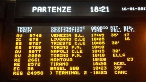 orari treni pavia centrale treni forti ritardi e cancellazioni guasto