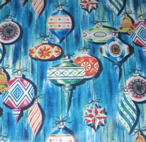 vintage christmas wrapping paper or gift wrap with retro