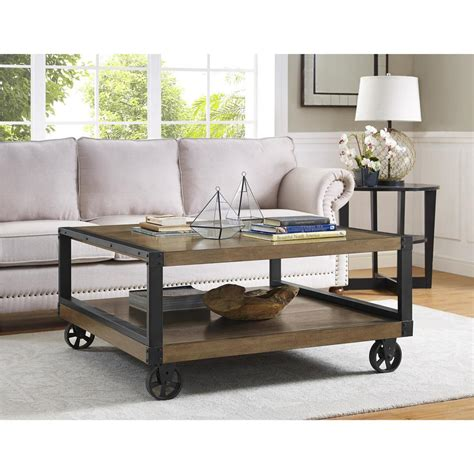 altra furniture coffee table altra furniture wade rustic gray mobile coffee table