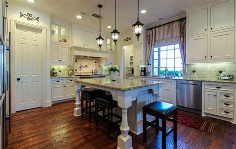 kitchen with wood floors and white cabinets antique white kitchen cabinets design photos designing