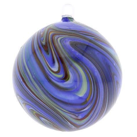 murano ornaments murano glass chalcedony ornament blue swirl