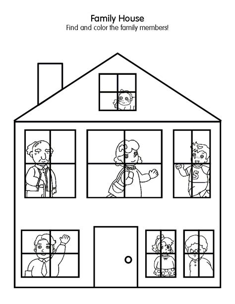 house coloring pages for preschoolers free preschool house coloring pages