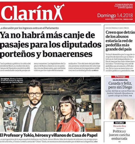 el diario argentino clar 237 n destaca en portada a la casa de