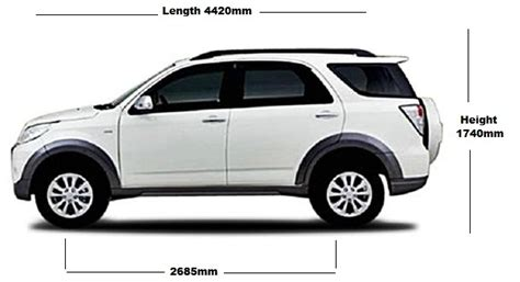 Of Toyota Toyota Dimension Length Width Height Ground Clearance