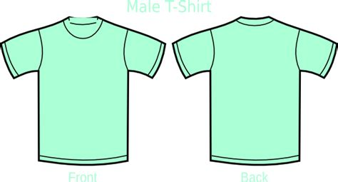Tshirt H K mint green t shirt clip at clker vector clip