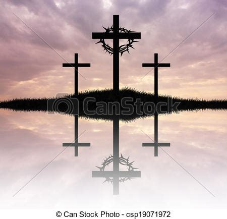 stock illustrations of three cross illustration of three
