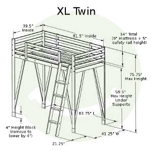 american  adjustable loft bed solid hardwood usa