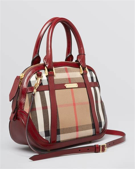 Resort Burberry Check Satchel by Burberry Satchel Small Orchard Dome Check In Brown Lyst