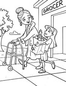 helping hand coloring page download