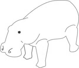 animal outlines hippo outline animal clip at clker vector clip royalty free domain