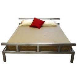 Stainless steel platform bed boltz steel furniture