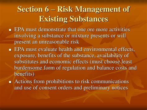 tsca section 6 ppt introduction to tsca powerpoint presentation id 367631