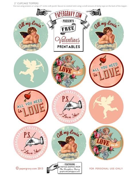 printable card toppers free valentine printables labels flags cupcake toppers