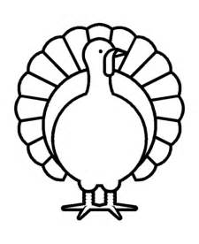 thanksgiving outline thanksgiving day coloring page sheets turkey simple