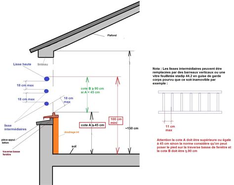 Hauteur Plafond Reglementaire by Quelle Hauteur Pour Une Fen 234 Tre En Mezzanine Ooreka
