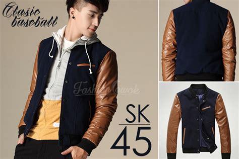 Jaket Crows Zero Korean Style Sk 31 jaket baseball korean style sk45 fashion cowok jaket