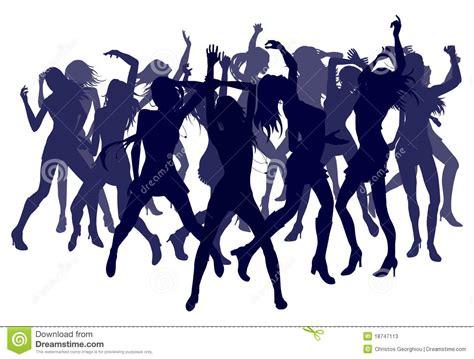 clipart donne donne che ballano le siluette illustrazione