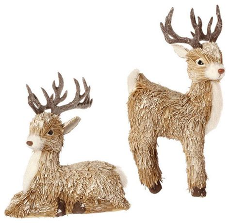 deer ornaments set of 2 farmhouse christmas