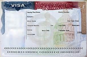 passport with usa visa stock photo image 46309667