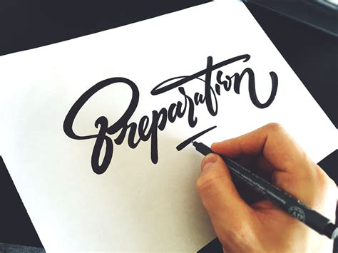 fancy hand lettering font design by tadas for sure ian b