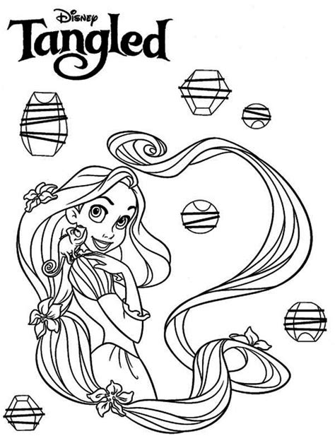 Tangled Coloring Pages Lanterns