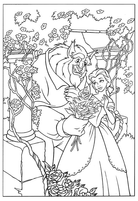 printable coloring pictures of beauty and the beast beauty and the beast coloring pages