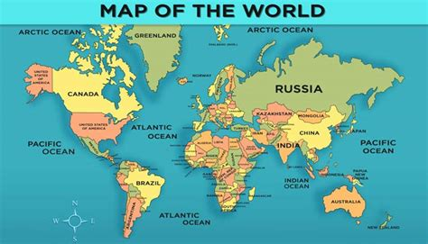 maps   world countries  names  travel