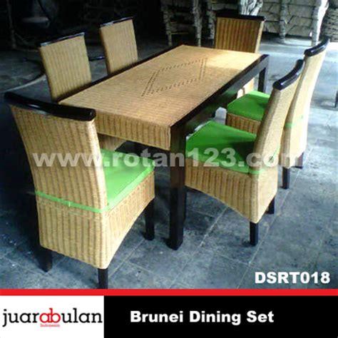 Meja Makan Anyaman harga jual brunei dining set meja makan rotan alami