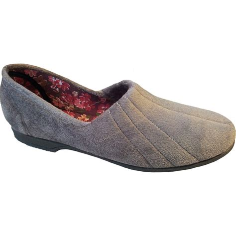 marshalls slippers gbs womens grey slip on slippers at marshall shoes