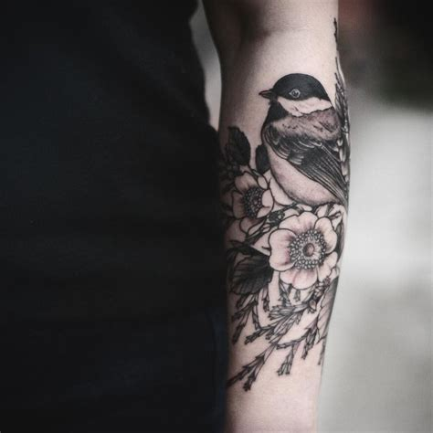 wrap around thigh tattoos 25 best ideas about chickadee on