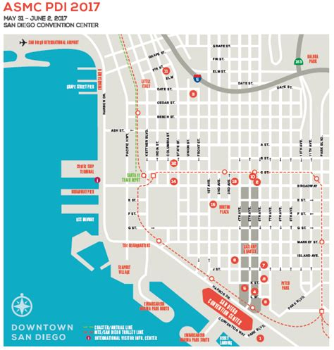san diego convention center map travel housing pdi 2017