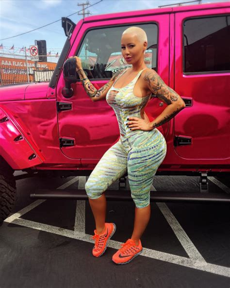 amber rose pink jeep celebrity cars blog