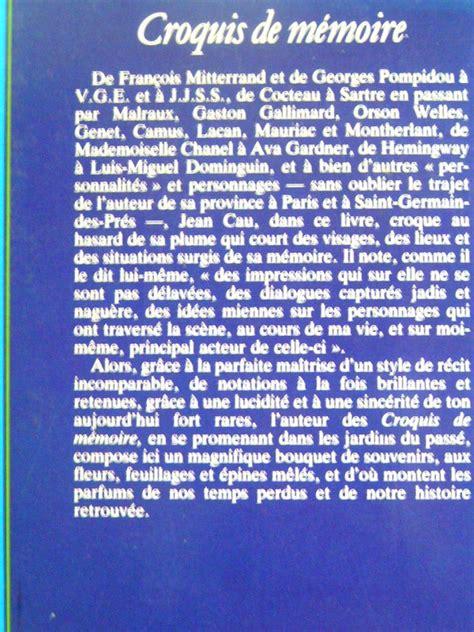 libro croquis de mmoire jean cau croquis de m 233 moire