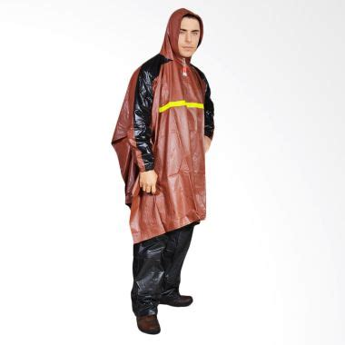 optimus jas hujan setelan coklat jual rainwear poncho gets coklat set jas hujan