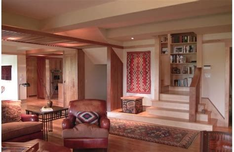 architect sarah susanka on boomers and the not so big stairs for seating and display in a house by architect and
