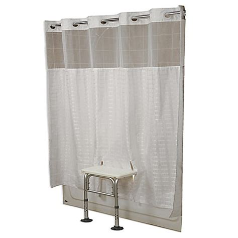 transfer bench shower curtain benchbuddy 174 shower curtains bedbathandbeyond com