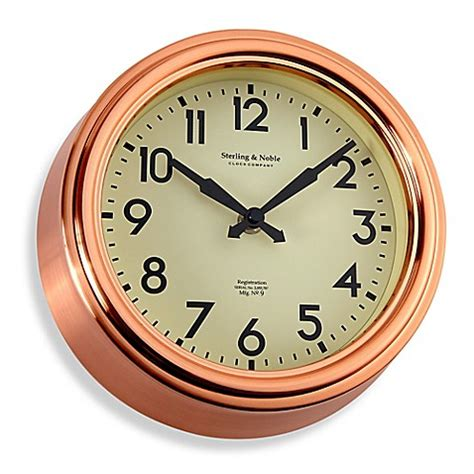kitchen clocks buy small copper kitchen wall clock from bed bath beyond