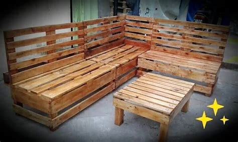 l shaped pallet couch awesome wooden pallet crafts that you can easily follow