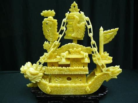 jade dragon boat carving jade dragon boat carving handmade in china for sale by38