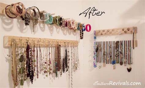 how to make your own jewelry organizer diy jewelry organizer