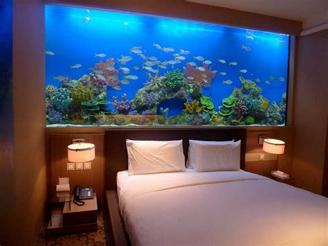 Fish Tank Bedroom | great ideas of fish tank bed for your glamorous bedroom
