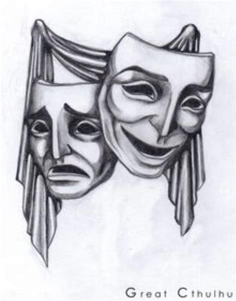 theater mask tattoo designs drama masks design curtain call and