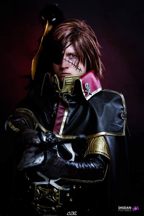 captain beautiful space pirate captain harlock cosplay by cosplayquest on