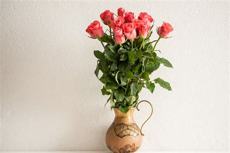 free photo bouquet of roses brass vase free free