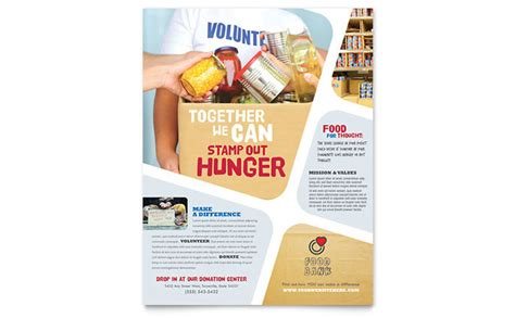 food bank volunteer flyer template design
