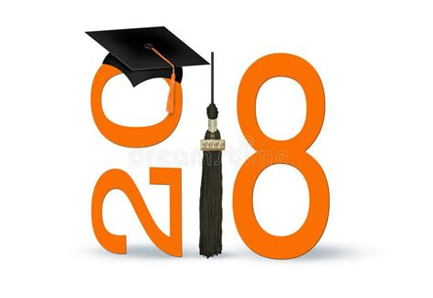 imagenes navideñas 2018 graduaci 243 n 2018 con el casquillo y la naranja negros stock