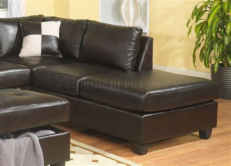 sectional sofa ottoman cappuccino bonded leather modern sectional sofa w ottoman