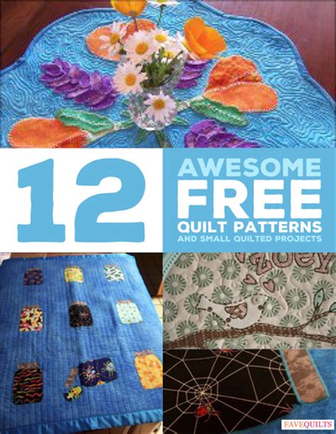 Small Patchwork Projects Free - 12 awesome free quilt patterns and small quilted projects