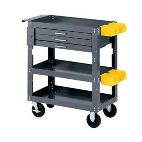 mobile tool bench edsal 28 in w x 16 in d mobile workbench with storage