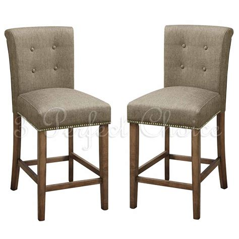 pc dining high counter height side chair bar stool  blended linen slate ebay